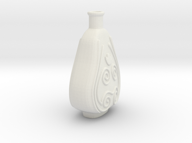 Vase2 in White Strong & Flexible