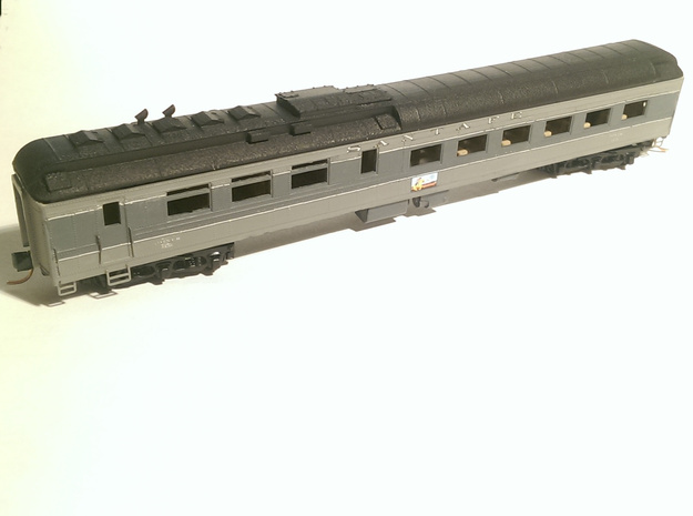 AT&SF Heavyweight Diner Roof (N-Scale) in Smooth Fine Detail Plastic