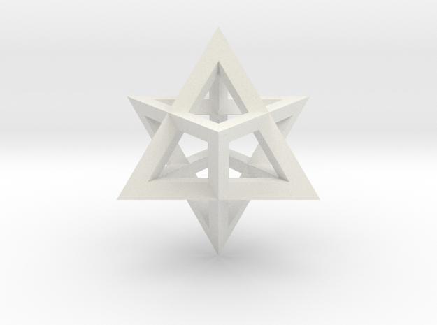 Merkaba in White Natural Versatile Plastic