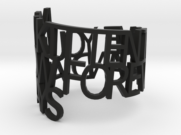 Now, Forever, and Always 3d printed