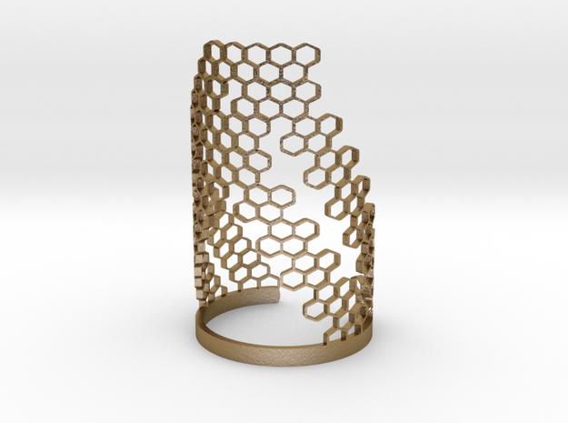 Honey Brace (Bracelet) in Polished Gold Steel