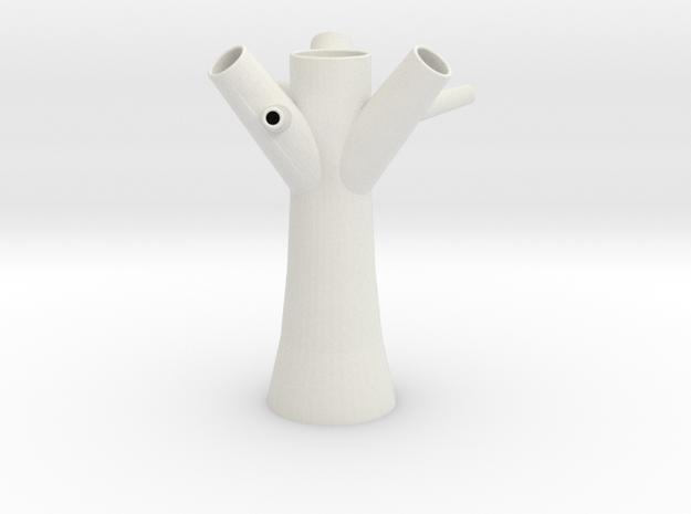 Tree Vase 1 in White Strong & Flexible