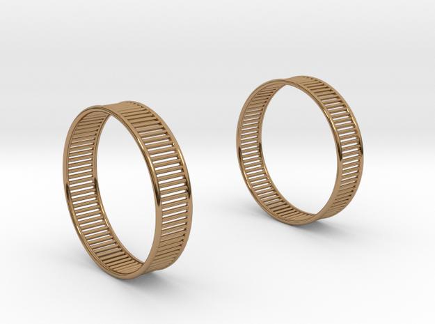 Wired Beauty 8 Hoop Earrings 40mm in Polished Brass