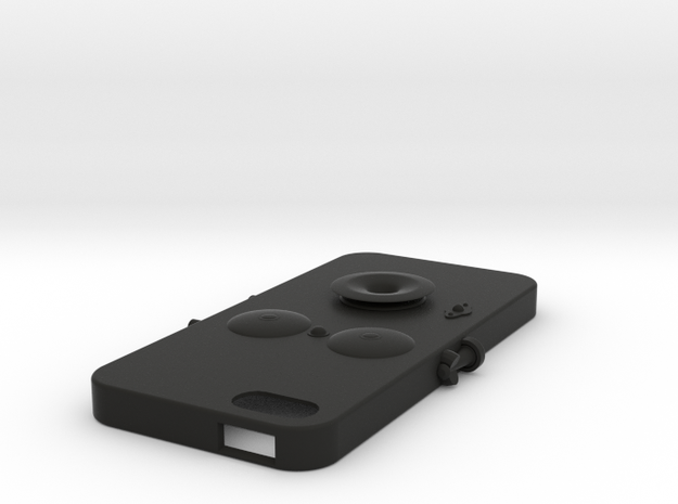 iPhone5 case(old type) in Black Natural Versatile Plastic
