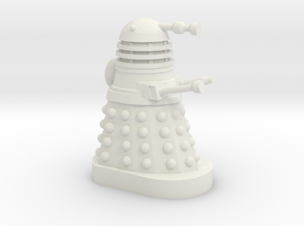Dalek Mini [Dalek Invasion of Earth] 30mm Miniatur in White Natural Versatile Plastic