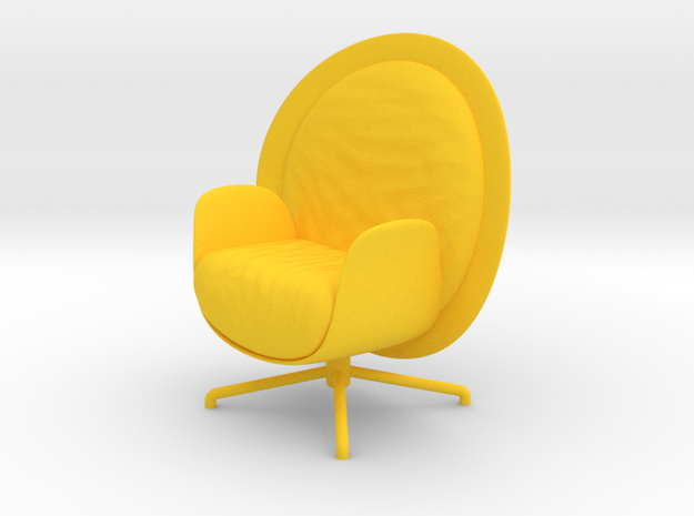 ZON Lounge Chair by RJW Elsinga 1:10 in Yellow Processed Versatile Plastic