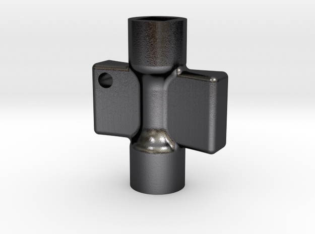 radiator key in Polished and Bronzed Black Steel