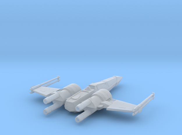 Space Superiority Fighter 7 Closed Wings in Smooth Fine Detail Plastic