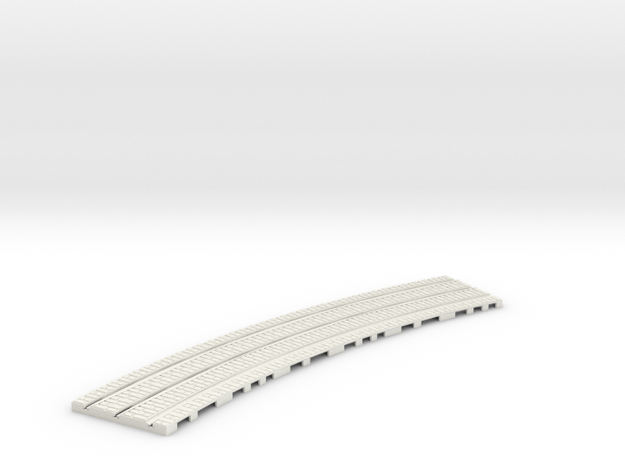 P-165-32st-tram-inner-long-curve-100-1a in White Natural Versatile Plastic