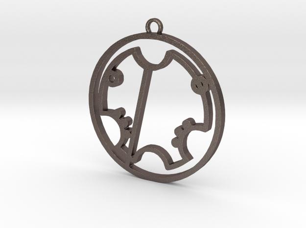 Trevor - Necklace in Polished Bronzed Silver Steel