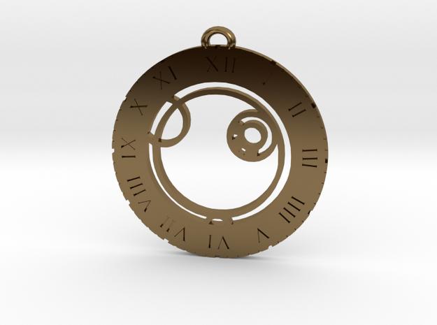 Alex - Pendant in Polished Bronze