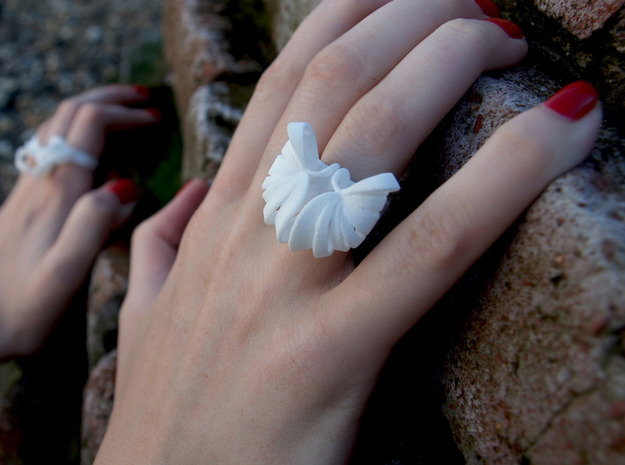 Pumpkin Ring Size 7 3d printed White