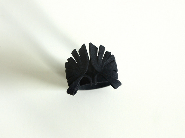 Pumpkin Ring Size 8 3d printed Black