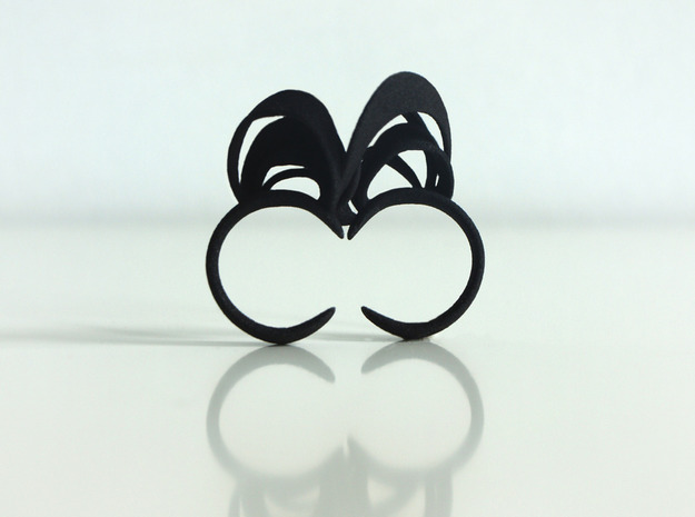 Ribbon Double Ring 7/8 3d printed Black