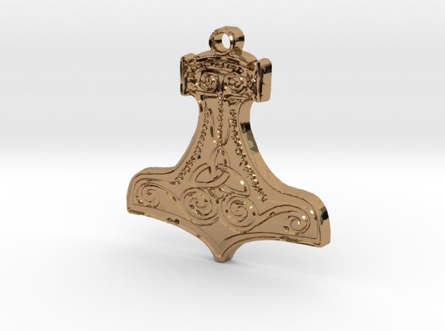 Thor's Hammer - Mjölnir in Polished Brass