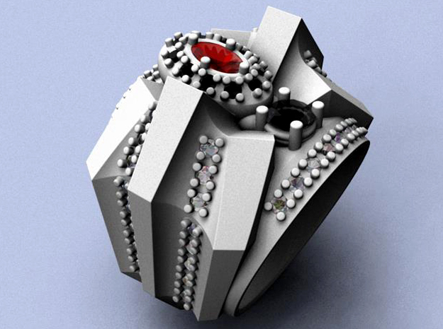 Venom Ring _ SIze 12 (21.49 mm) in Natural Silver