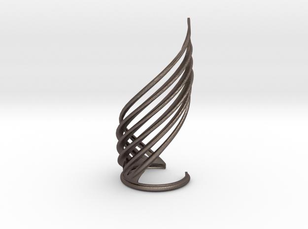 The Wave (Bracelet) in Polished Bronzed Silver Steel