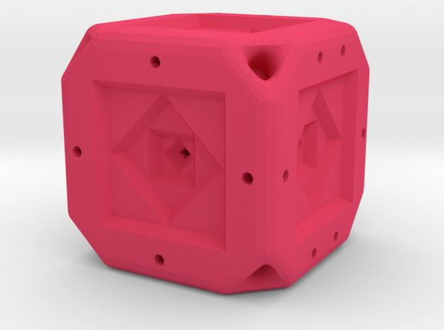 Dice83 in Pink Processed Versatile Plastic