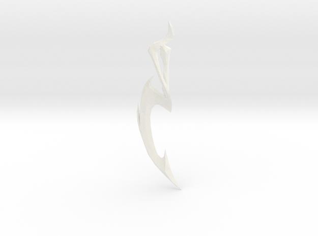 Diana Dark Valkyrie Sword in White Processed Versatile Plastic