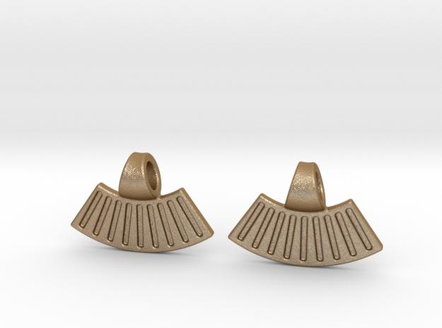 Sun Earrings in Matte Gold Steel