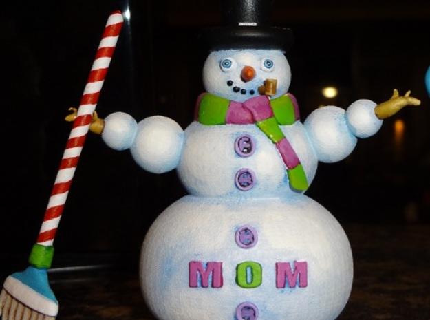 Snowman14Shapeways 3d printed