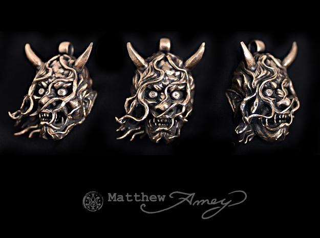 Hannya version 2 in Natural Bronze
