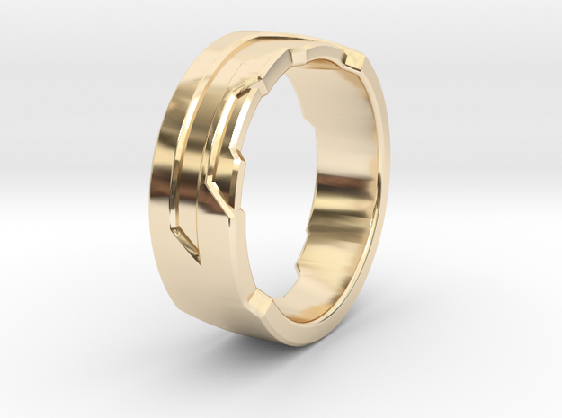 Ring Size U in 14K Yellow Gold