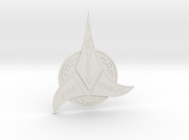 Klingon Insignia in White Strong & Flexible