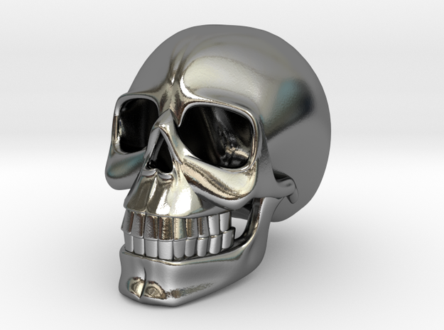 SKULL( install your order.) in Polished Silver