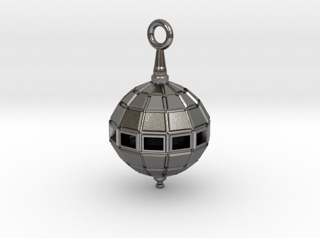 Grenade Bomb Pendant in Polished Nickel Steel