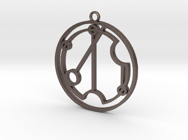 Vivien - Necklace in Polished Bronzed Silver Steel