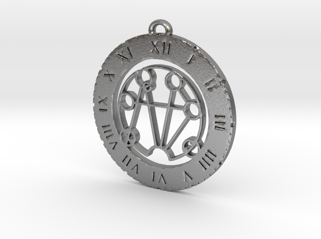 Symphony - Pendant in Natural Silver