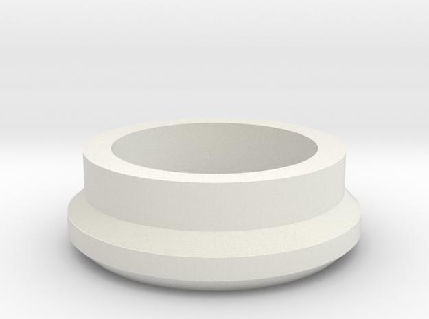 Gun Button Retainer MkI in White Natural Versatile Plastic