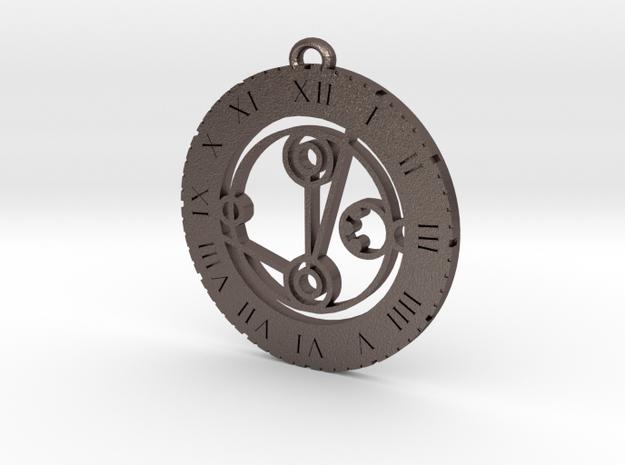 Melanie - Pendant in Polished Bronzed Silver Steel
