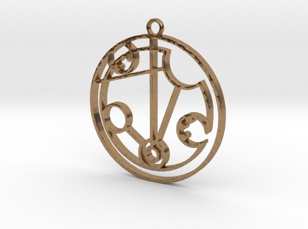Medwyn - Necklace in Natural Brass