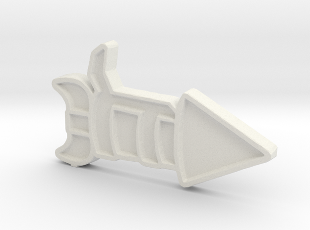 Ship #6 in White Natural Versatile Plastic