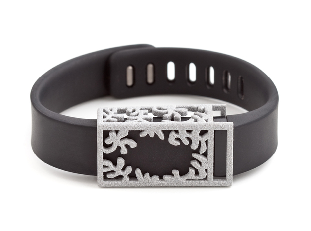 Plastic Matisse slide for Fitbit Flex in Polished Metallic Plastic