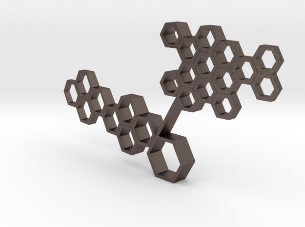 Honeycomb 02 in Polished Bronzed Silver Steel