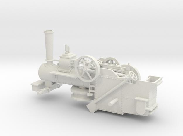 1005-0 Fowler Plough  Engine Body 1:43.5 O Scale in White Natural Versatile Plastic