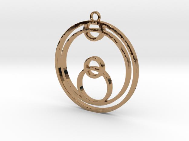 Joe - Necklace in Polished Brass