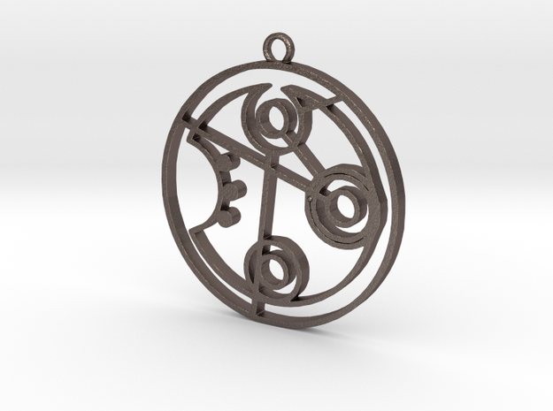 Jennifer - Necklace in Polished Bronzed Silver Steel
