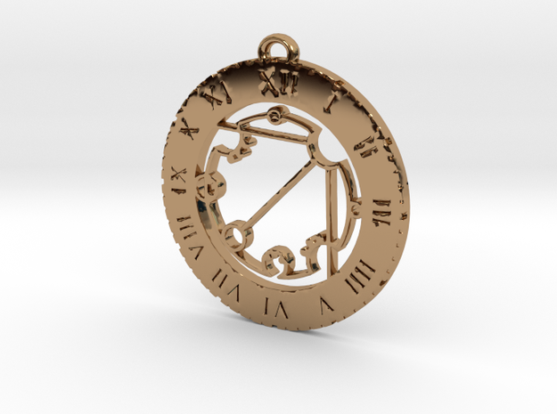 Draceryn - Pendant in Polished Brass