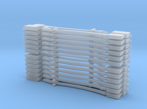 Flat Axe Set dozen each(1/24 scale) in Smooth Fine Detail Plastic