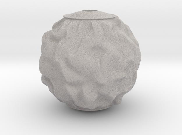 Bauble, Ball, Wrinkled in Full Color Sandstone