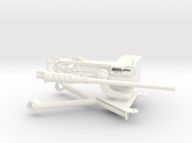 FA30007 0.50 Caliber M2 Browning 1/10 scale in White Strong & Flexible Polished