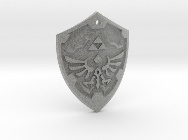Hylian Shield - Legend of Zelda in Metallic Plastic