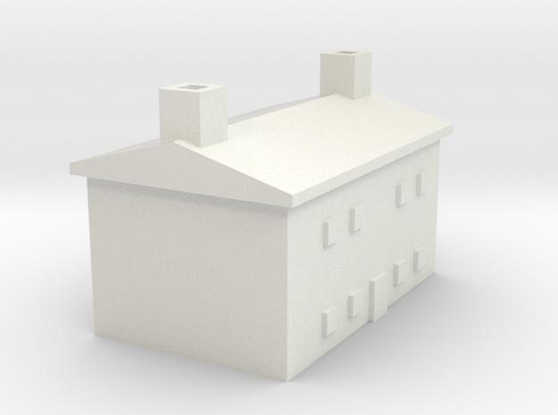 1/600 Farm House 2 in White Natural Versatile Plastic
