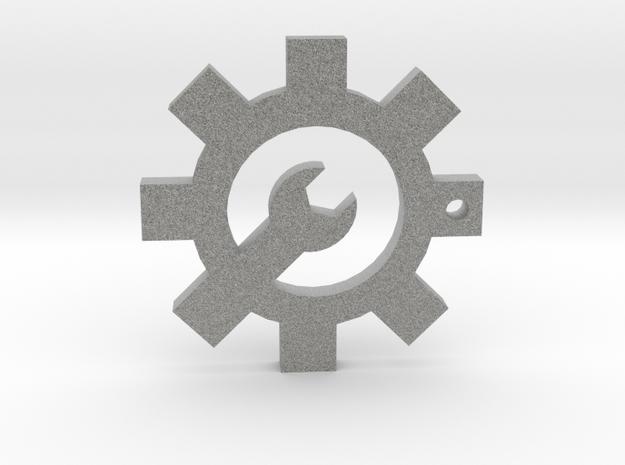 Arx Mechanica Logo Pendant in Metallic Plastic