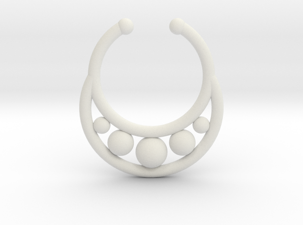 Faux Septum Ring - peapod in White Natural Versatile Plastic