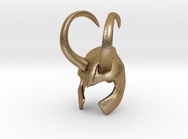 Loki Finger Helmet in Polished Gold Steel